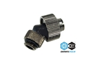 Raccordo a Compressione a 45° G1/4 per tubo 13/19 mm Black NicKel