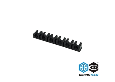 Clip Bloccatubo (Terminal Strip) 13mm (10x1,5mm) 6 Clips Nero