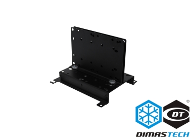 DimasTech® Pump Support with Vertical Stand Graphite Black